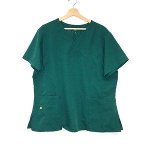 WonderWink emerald green scrub top quick dry